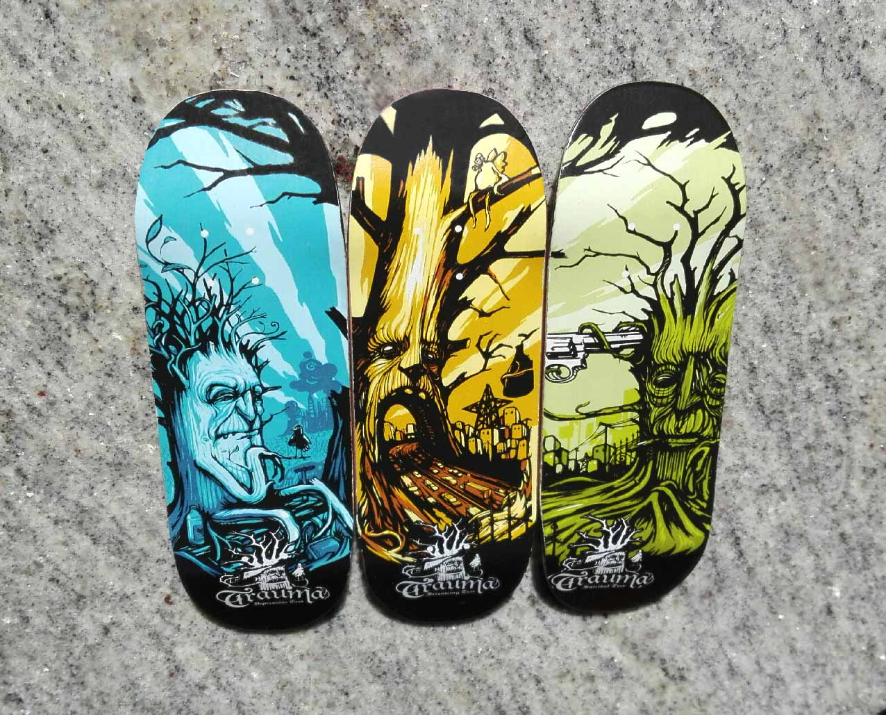 TRIPTYCH TRAUMA TREES BOARD 33MM MEDIUM CONCAVE – 25,90 € ($27,90 USD)